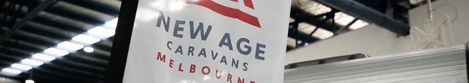 new age caravans melbourne banner